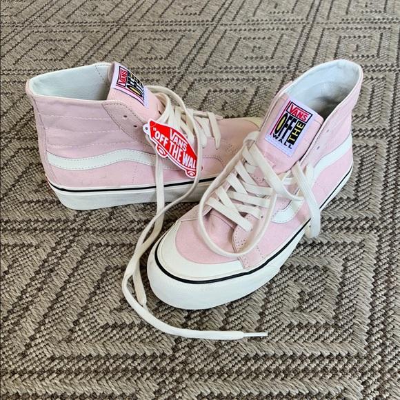 d638d5c9d4 NEW Vans Baby Pink High Tops